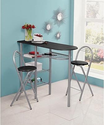 buy home amelia breakfast table and 2 chairs - black at argos co uk