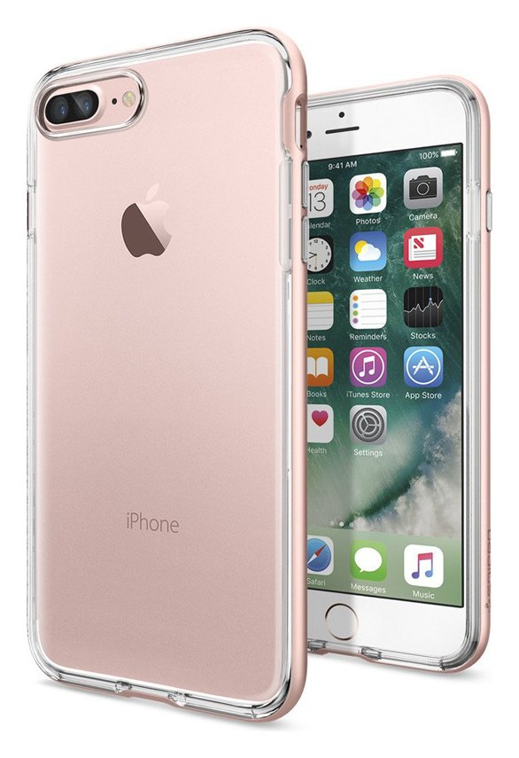 Spigen Spigen Neo Hybrid Crystal Apple iPhone 7 Plus Case-Rose Gold