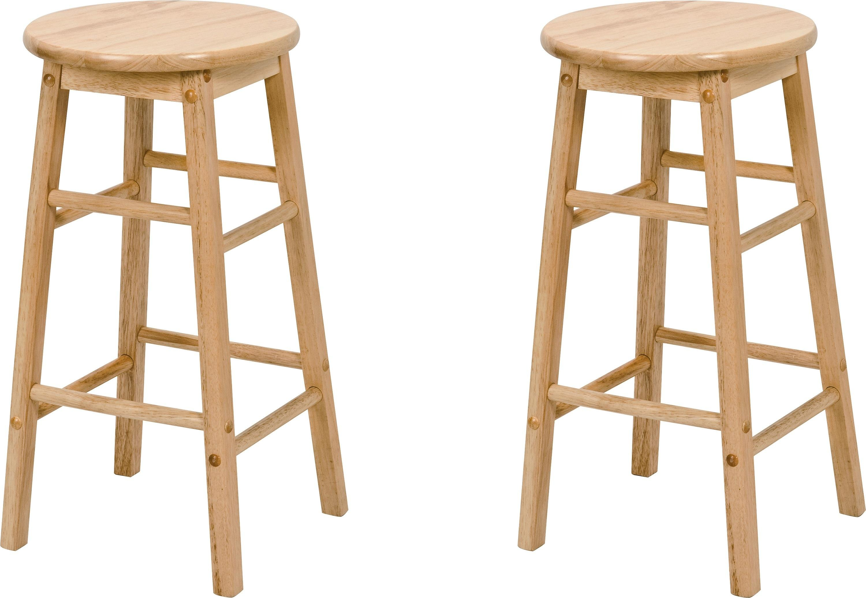 Buy Simple Value Pair Of Solid Wood Kitchen Stools Bar