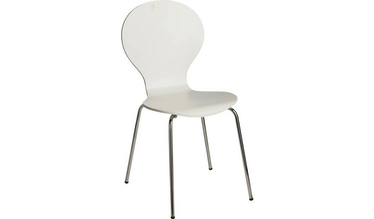 Argos Home Bentwood Dining Chair - Super White