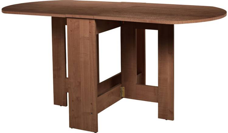 Argos Home Extending 4 - 6 Seater Table - Walnut Effect