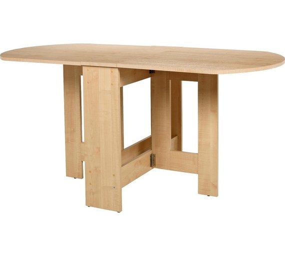 buy argos home gateleg extendable 4 6 seater table light oak