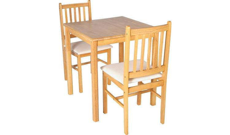 ae852e21f40 Buy Argos Home Kendal Square Solid Wood Table   2 Chairs ...