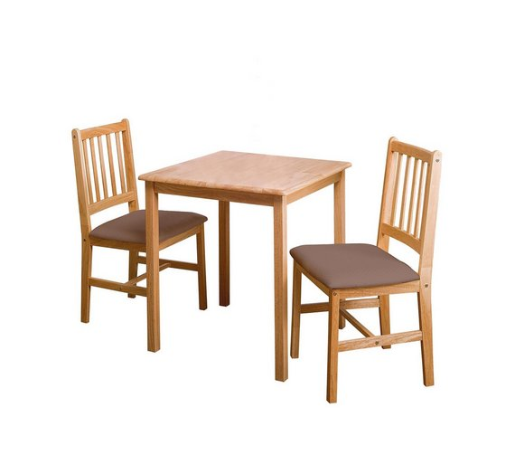 home kendall square solid wood dining table 2 chairs choc - Square Wood Dining Table