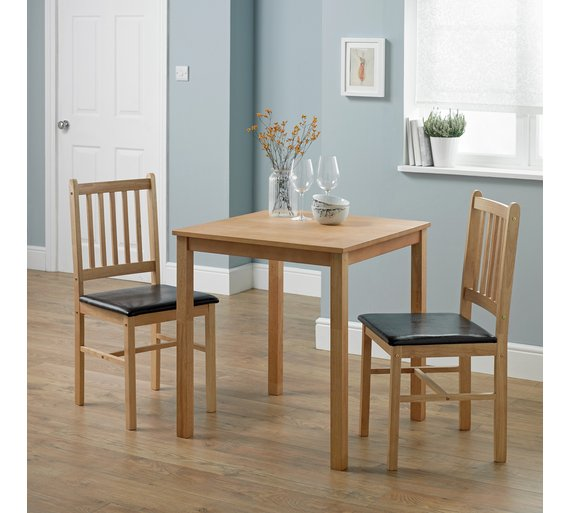 Buy HOME Kendall Square Solid Wood Dining Table 2 Chairs Choc