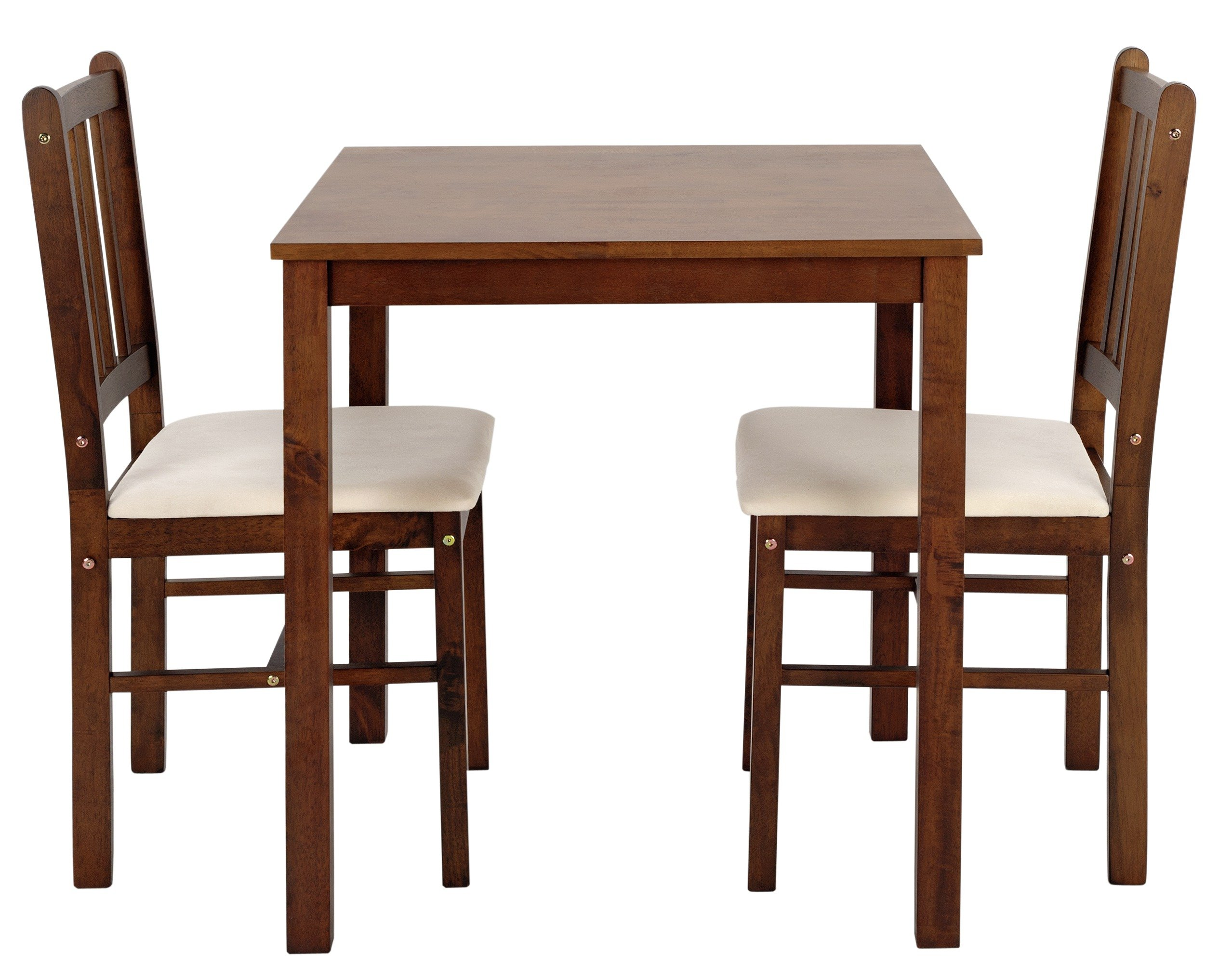 Buy HOME Kendall Solid Walnut Dining Table 2 Chairs Cream at