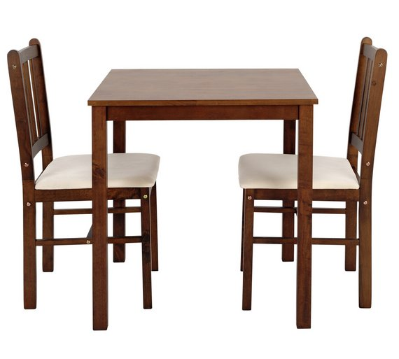 Buy HOME Kendall Solid Walnut Dining Table 2 Chairs