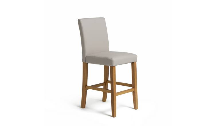 Buy Argos Home Winslow Wood Amp Leather Effect Bar Stool