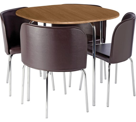 Kitchen Table And Chairs At Argos: Buy Hygena Amparo Oak Effect Dining Table & 4 Chairs