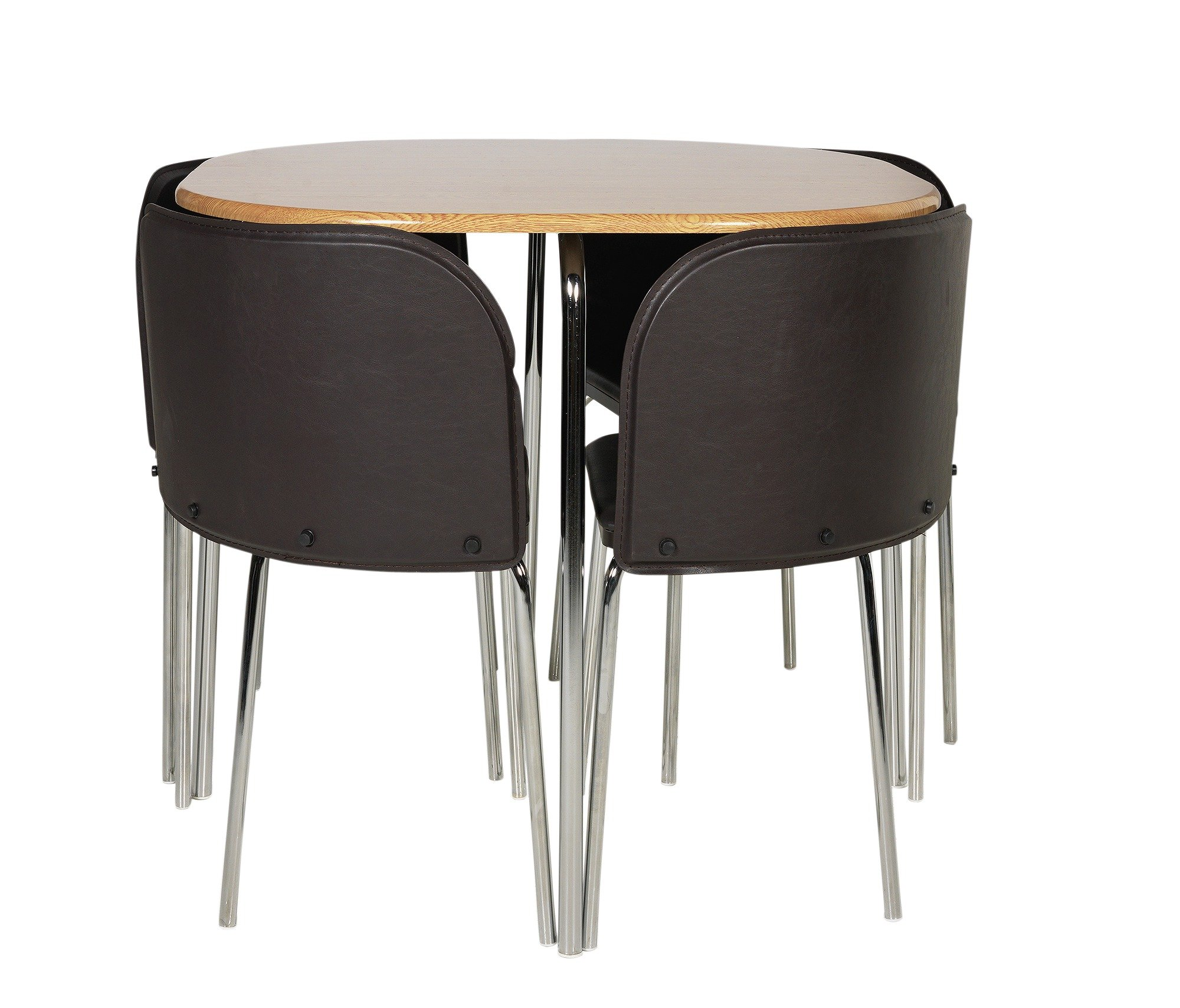 Buy Hygena Amparo Oak Effect Dining Table   Chairs - Chocolate