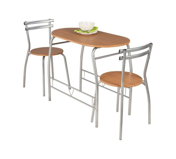 Buy HOME Vegas Oak Effect Dining Table 2 Chairs At Argoscouk