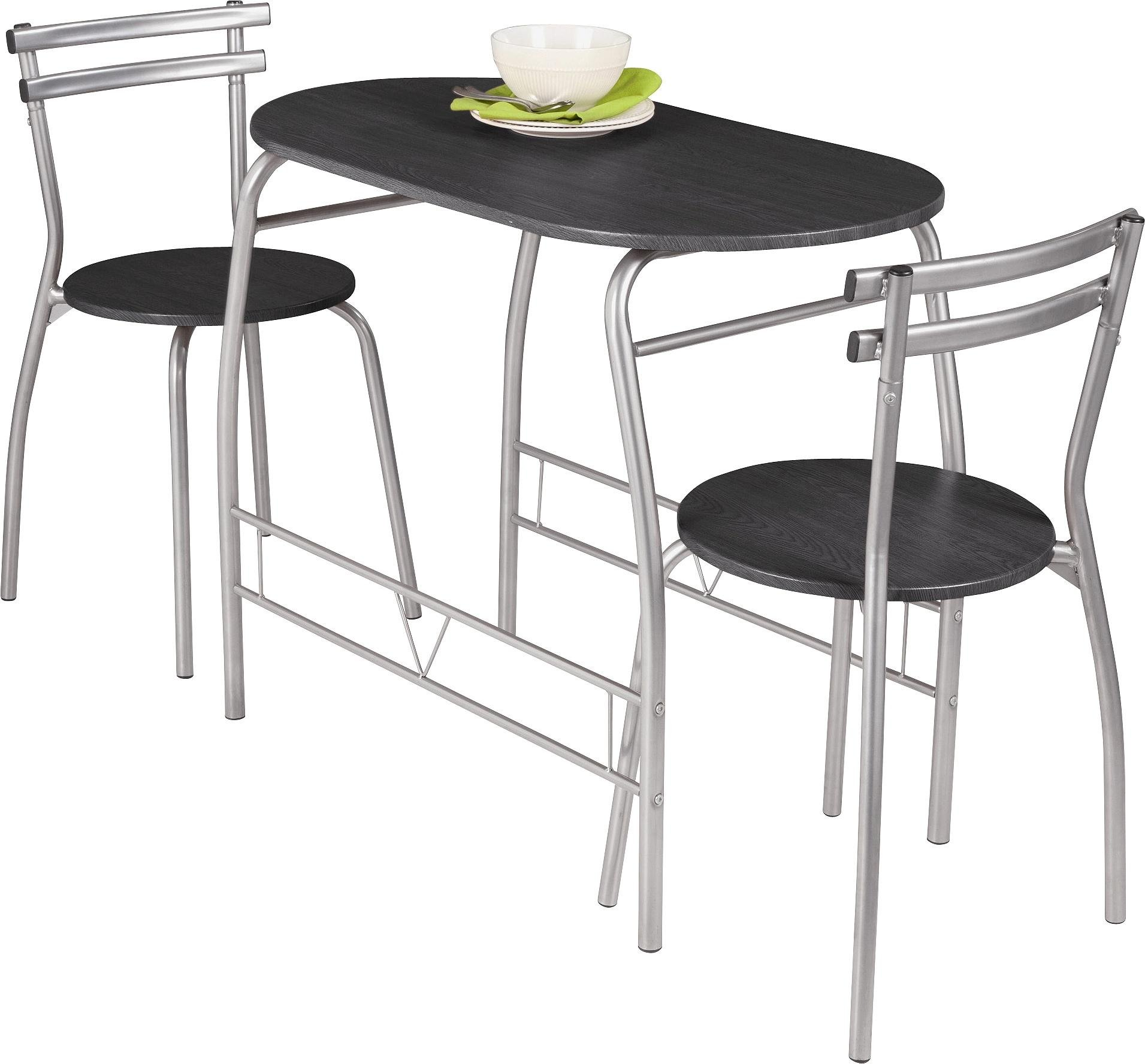 table 2 chairs. home vegas dining table \u0026 2 chairs - black c