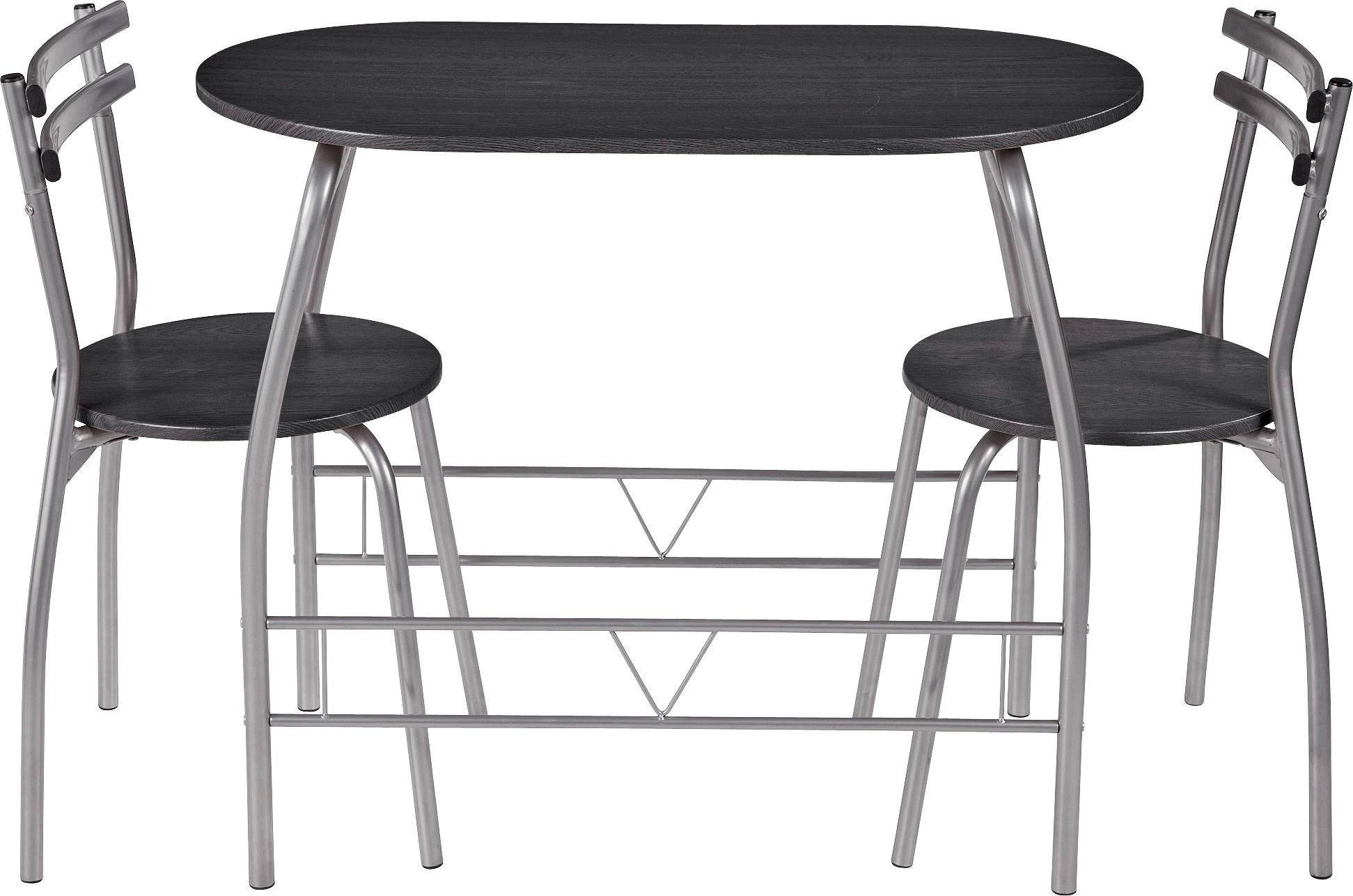 Buy HOME Vegas Dining Table 2 Chairs Black at Argoscouk