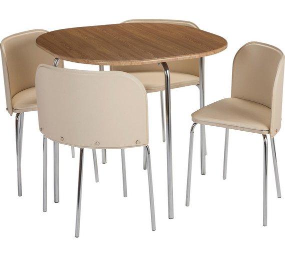 Buy Hygena Amparo Oak Effect Dining Table 4 Chairs