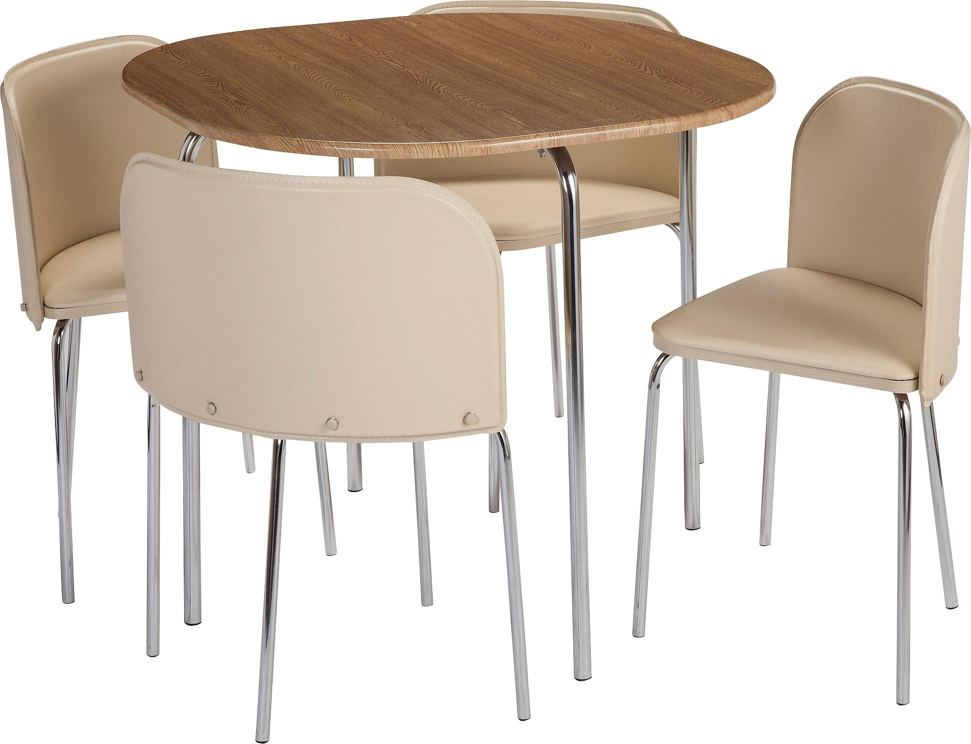 Buy Hygena Amparo Oak Effect Dining Table   Chairs - Cream at
