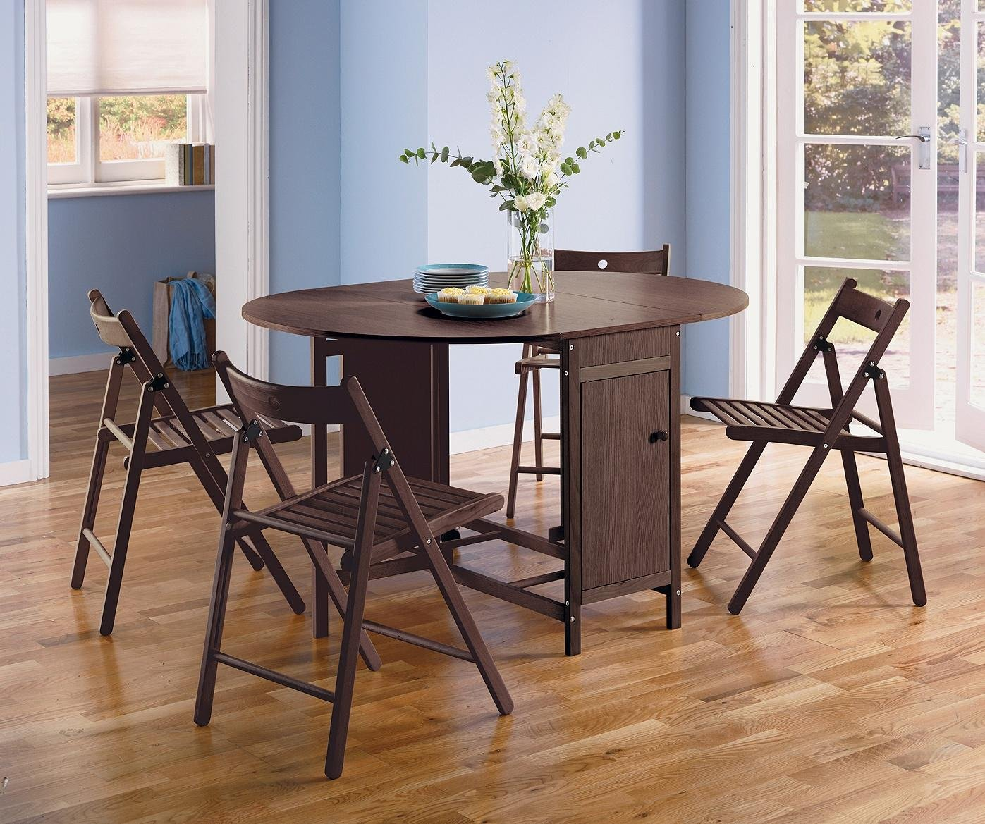Sale On Home Butterfly Extendable Oval Table Amp 4 Chairs