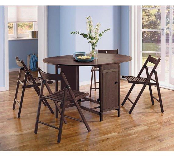 buy home butterfly oval dining table and 4 chairs. Black Bedroom Furniture Sets. Home Design Ideas