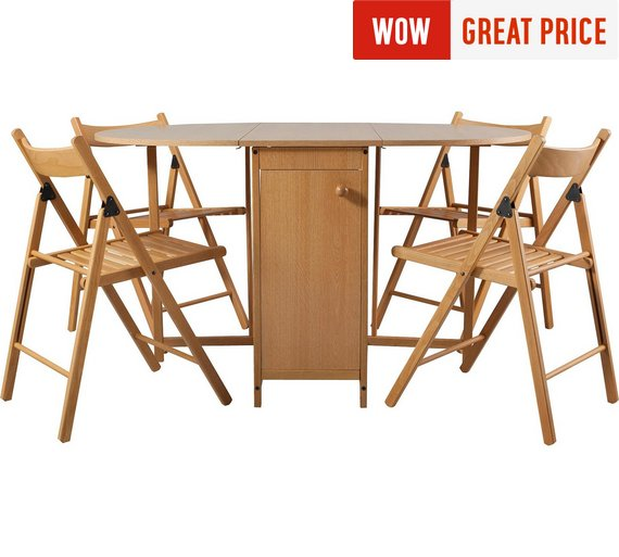 Buy HOME Butterfly Ext Oval Wood Effect Table 4 Chairs