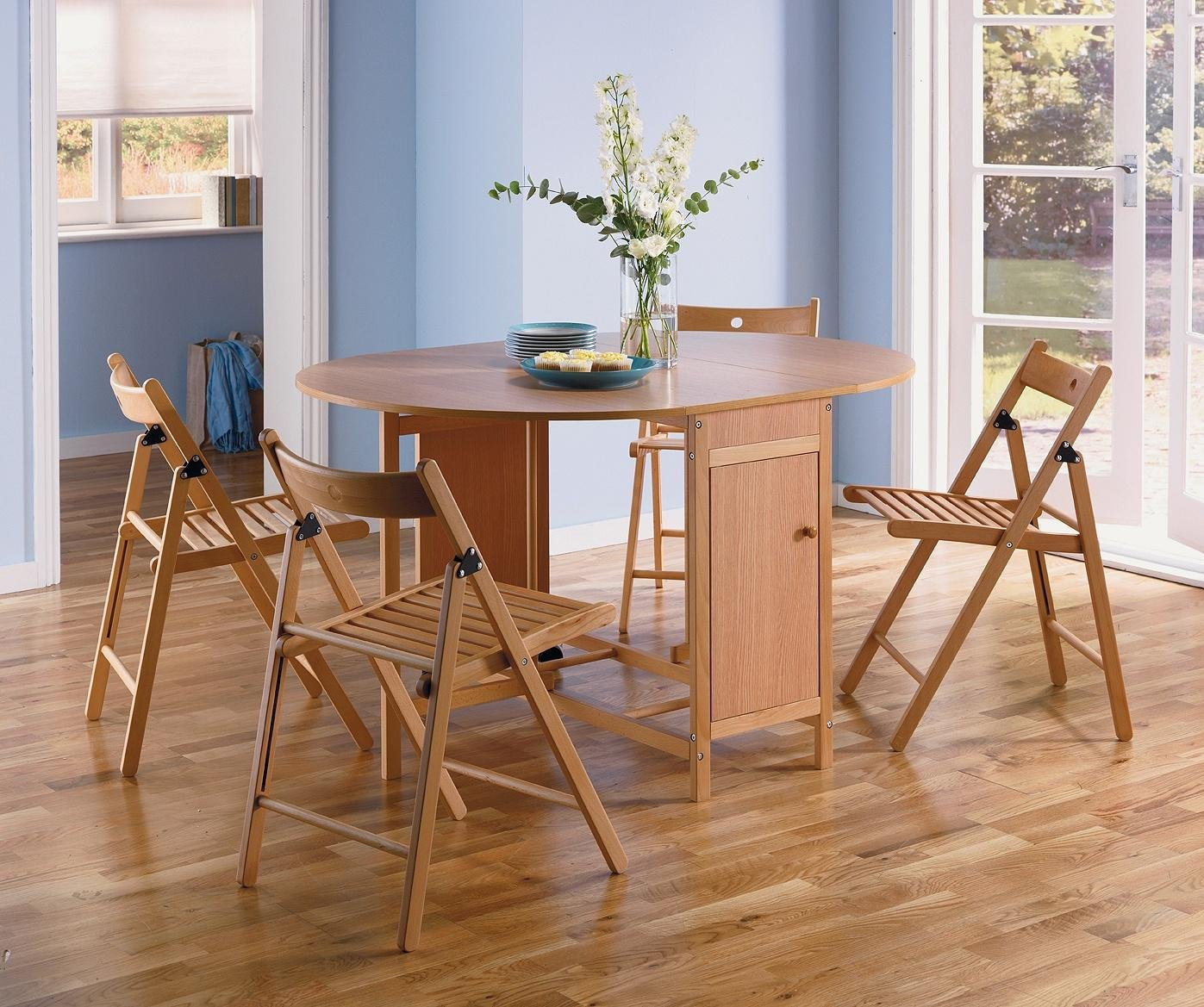 Buy HOME Butterfly Ext Oval Wood Effect Table   Chairs - Oak at