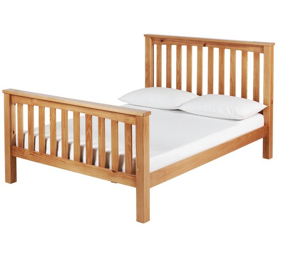 Buy Argos Home Maximus Kingsize Bed Frame - Oak Stained | Bed frames ...