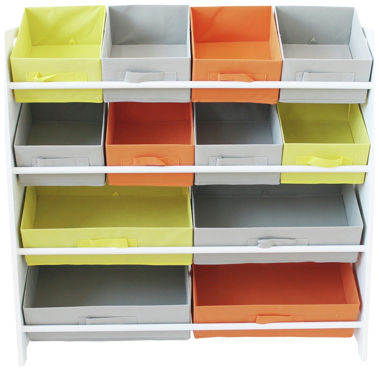 Argos Home 4 Tier White Kids Basket Storage Unit