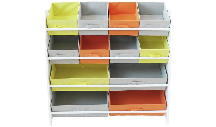 Argos Home 4 Tier Kids Basket Storage Unit - White