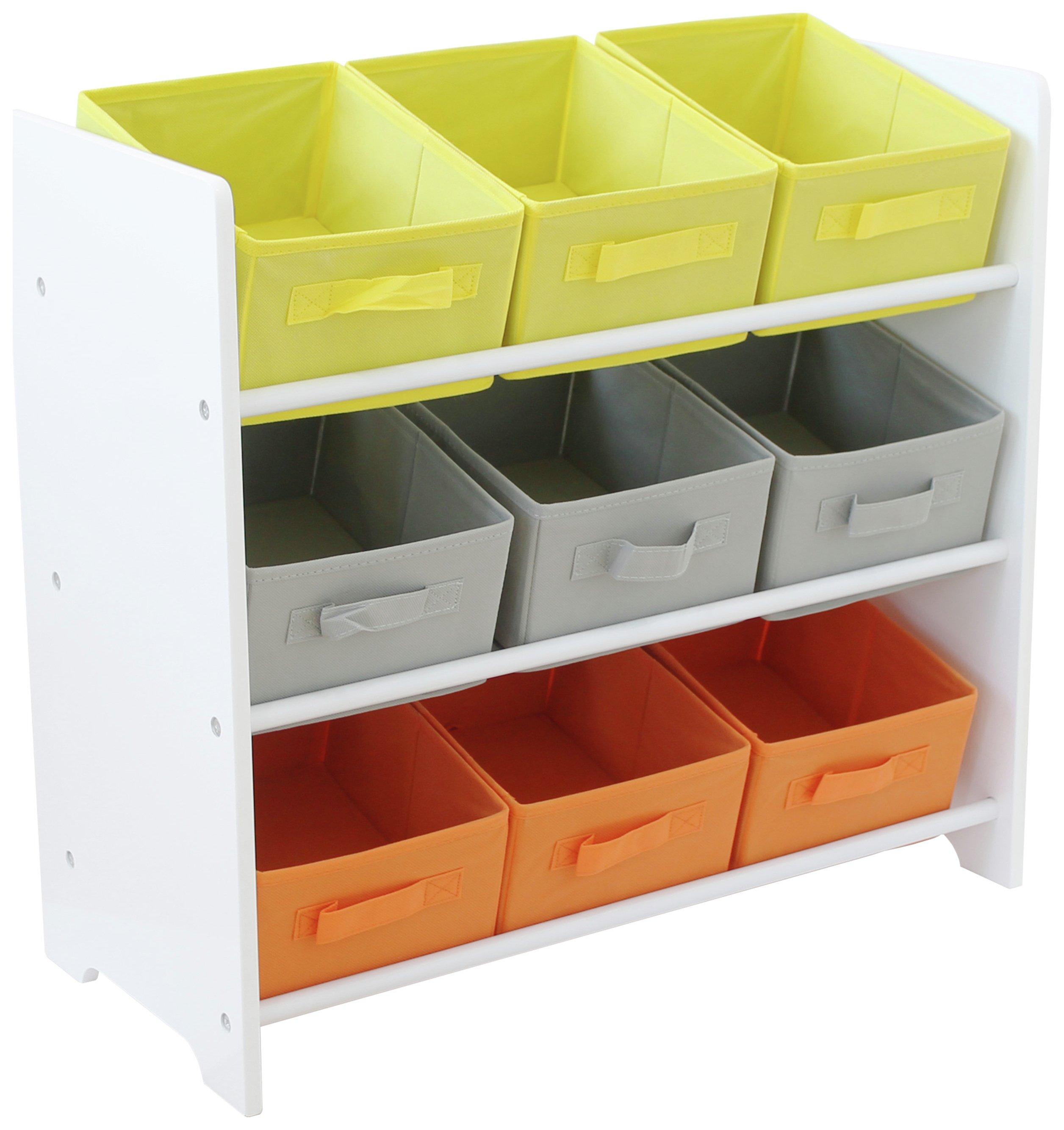 Argos Home 3 Tier White Kids Basket Storage Unit