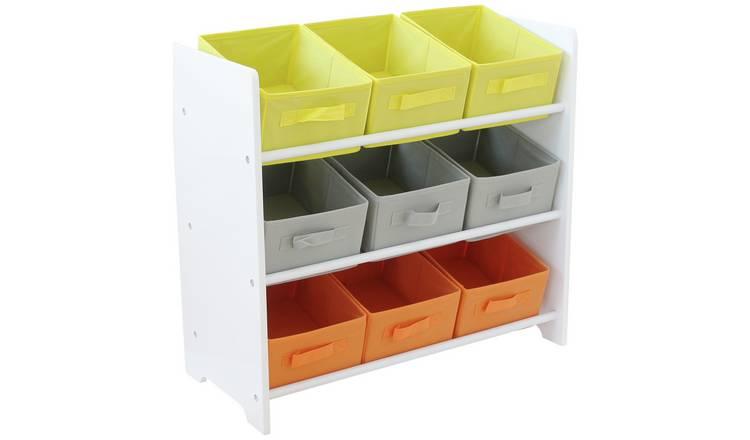 Buy Argos Home 3 Tier White Kids Basket Storage Unit | Toy boxes | Argos