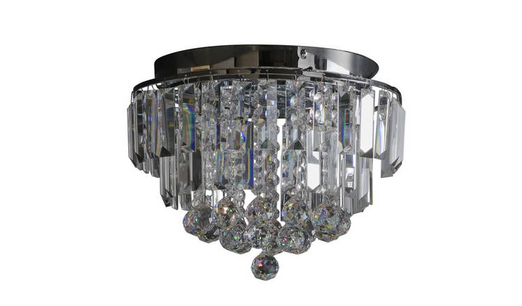 Argos Home Opulence Crystal Glass Flush Ceiling Light