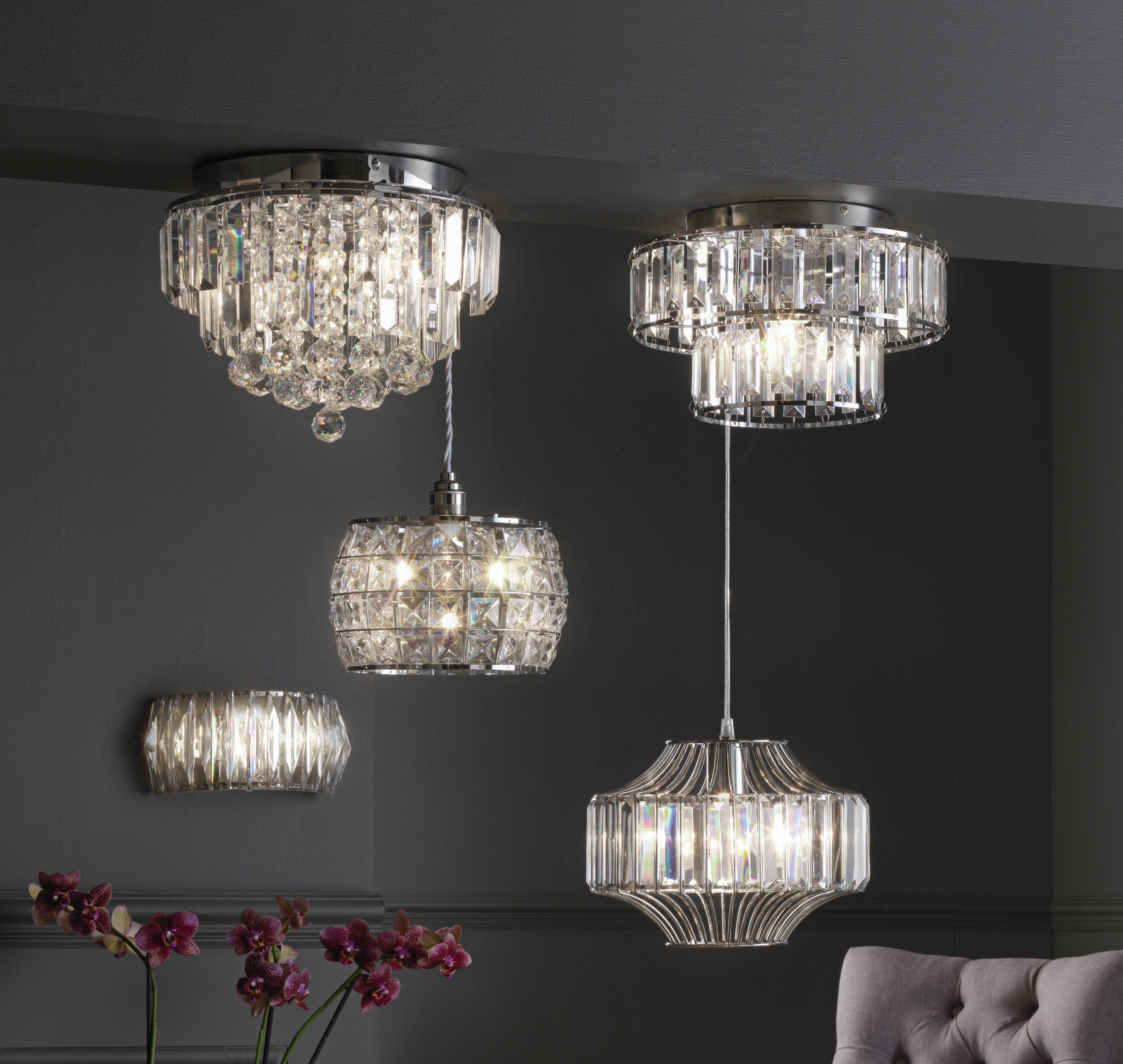Argos Home Opulence Crystal Glass Flush Ceiling Light Reviews