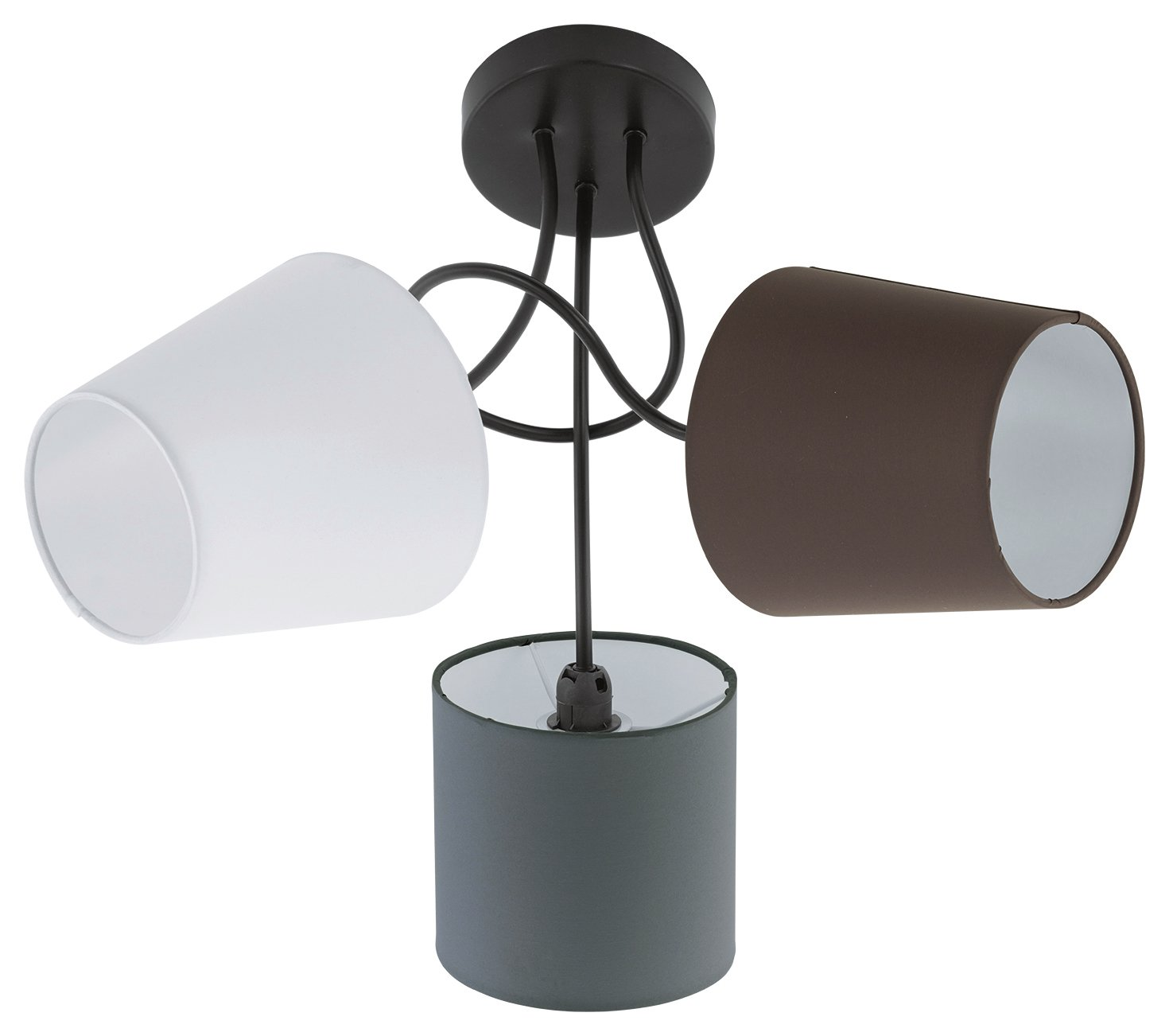 Image of Eglo Almeida 3 Ceiling Lights with Fabric Shade