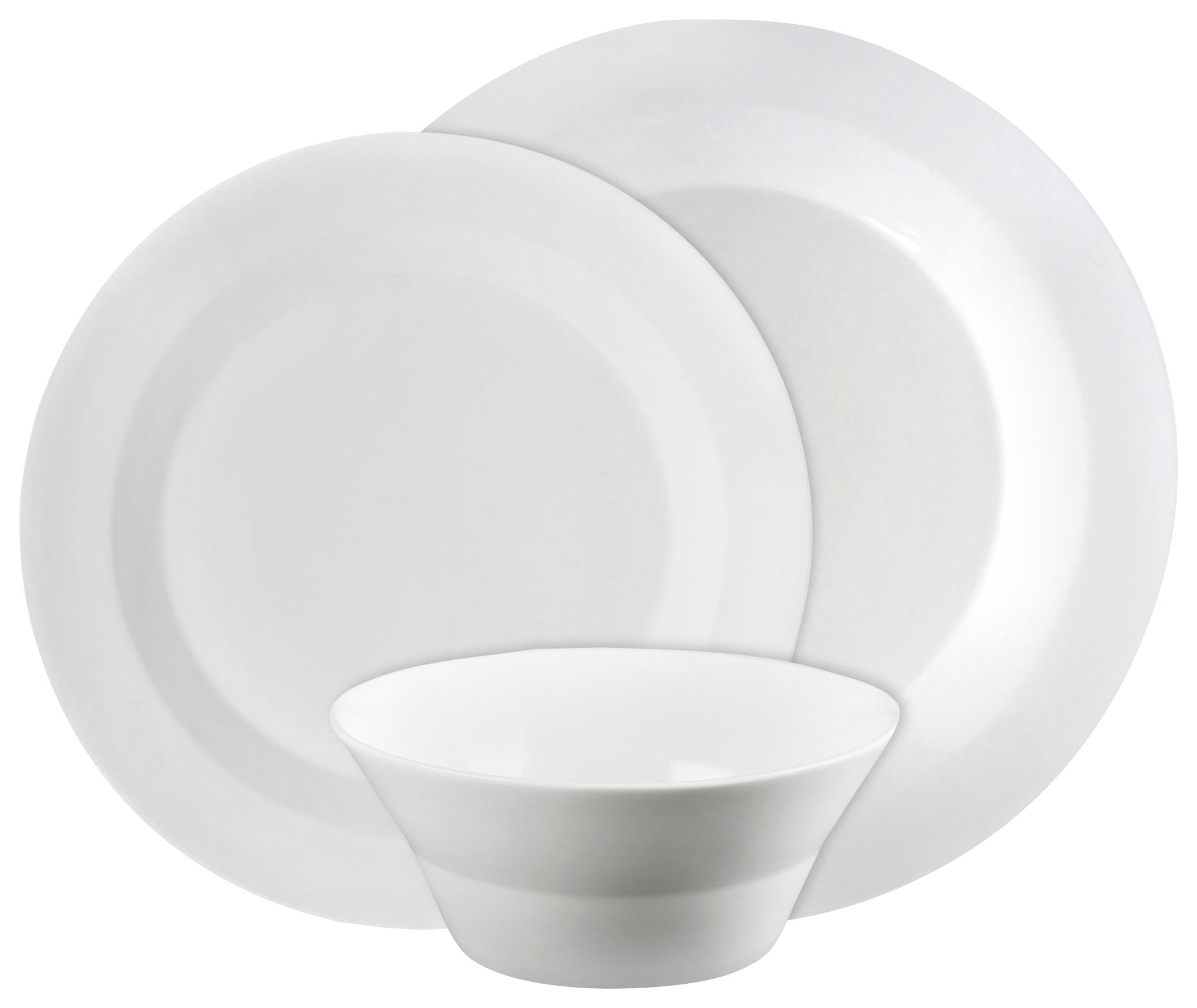 Image of Denby Everyday 12 Piece Bone China Boxed Dinner Set - White