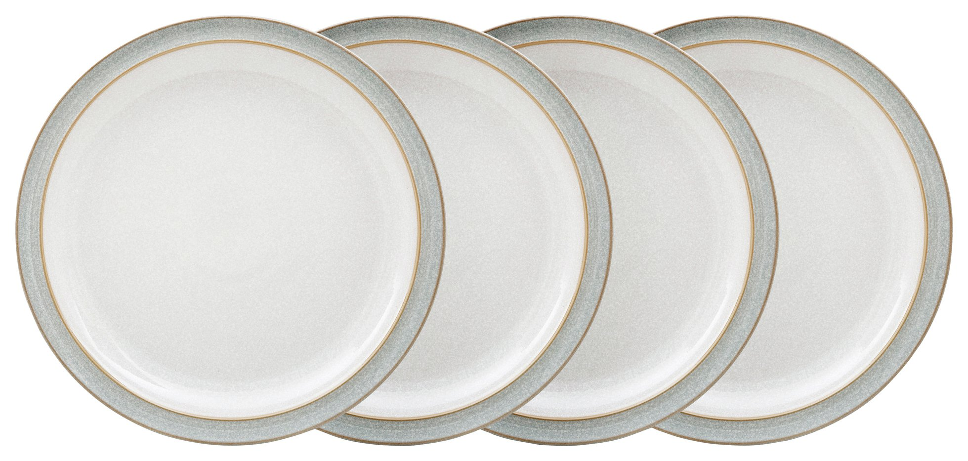 Image of Denby - Elements Set of 4 Dinner Plates - Light Grey