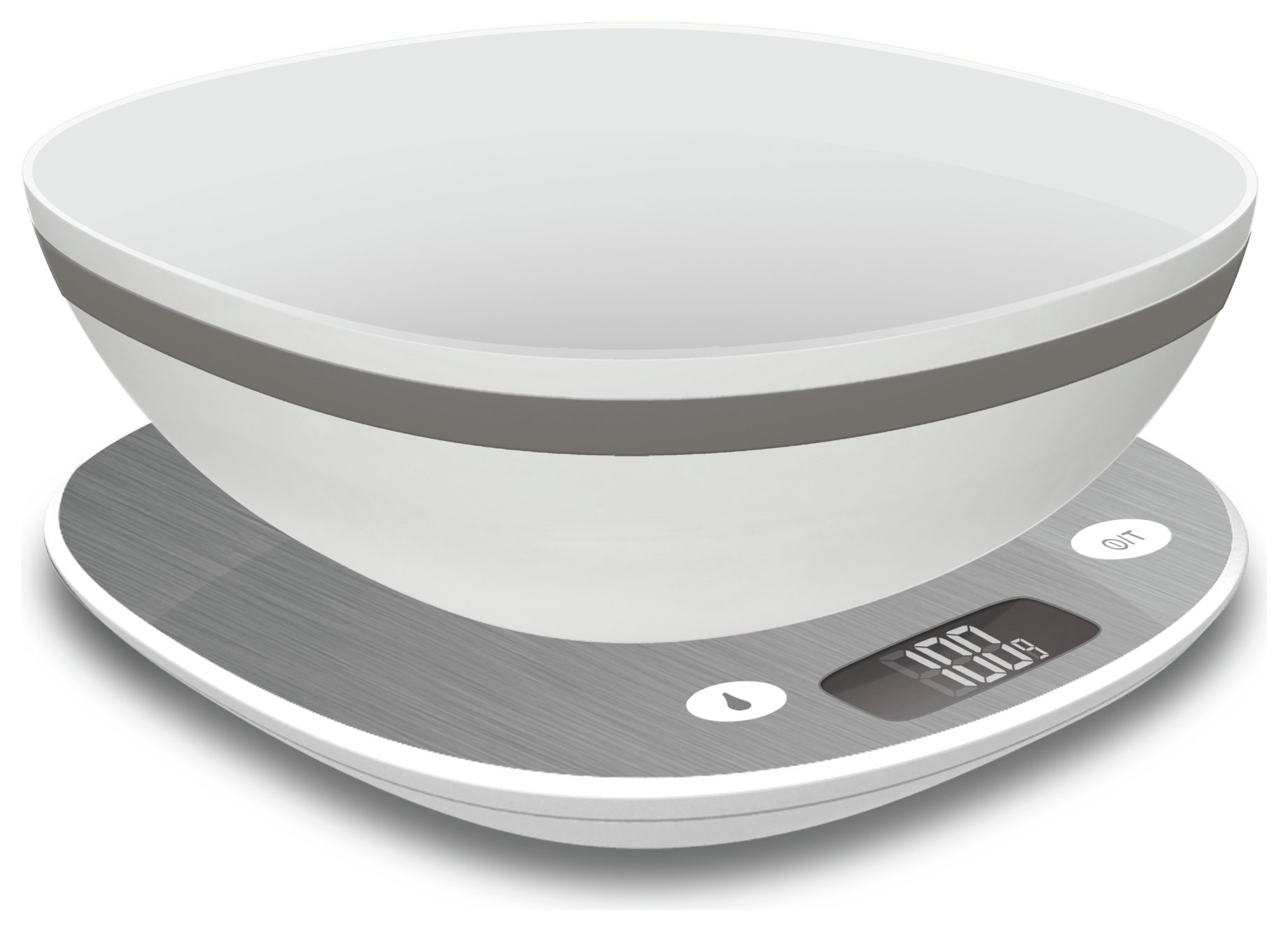 Terraillon Macaron 5Kg Scale with Bowl - Stainless Steel