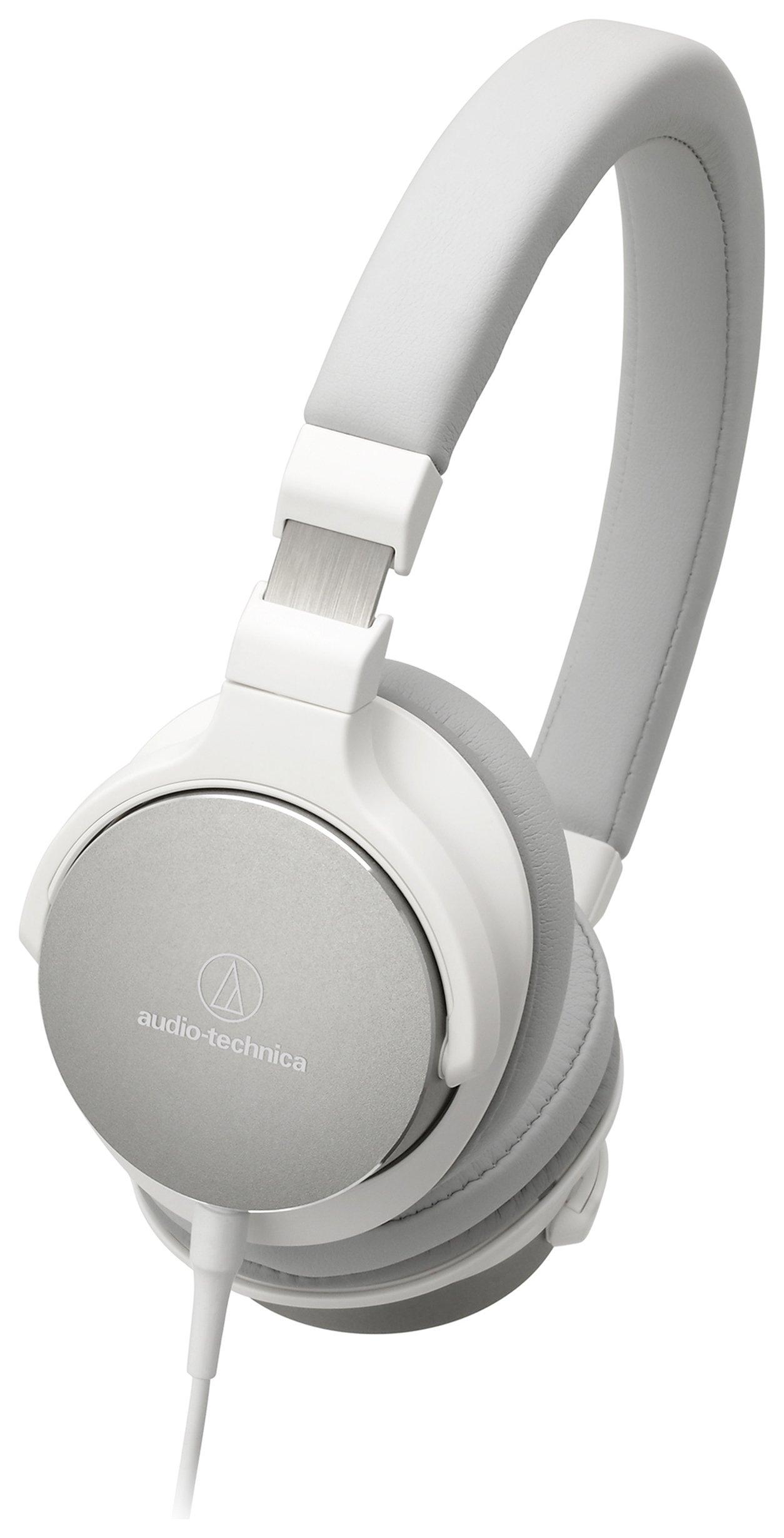Audio Technica ATH-SR5 On-Ear Headphones - White.