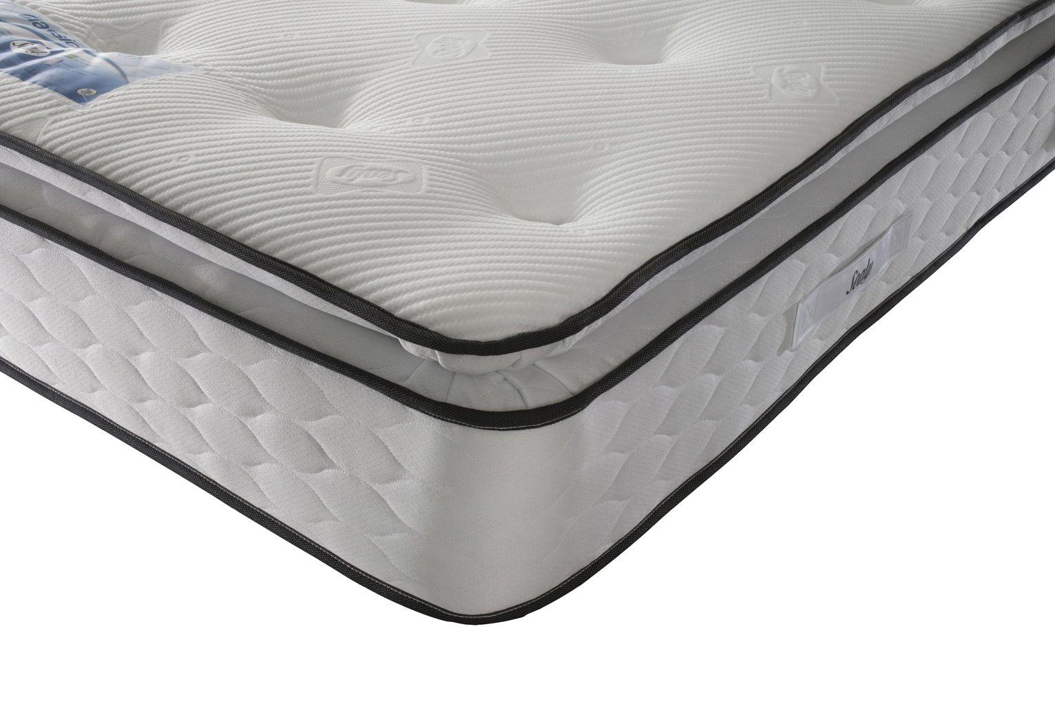 sealy pocket sprung memory pillowtop double mattress