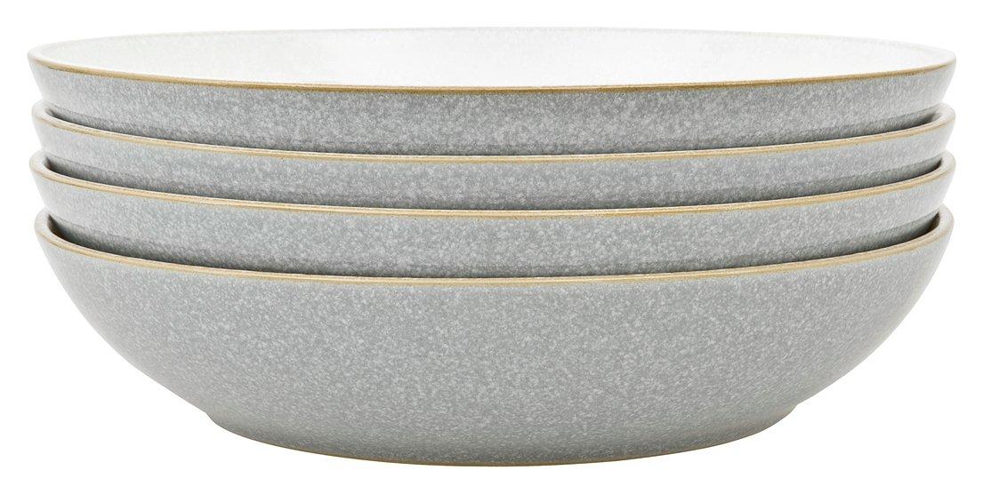 Denby Elements Set of 4 Ceramic Pasta Bowls - Light Grey