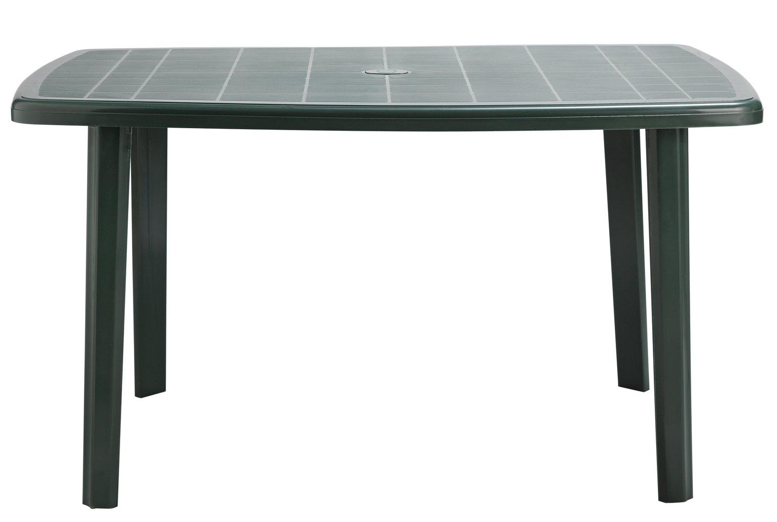 Garden tables argos home large oblong table cayman green