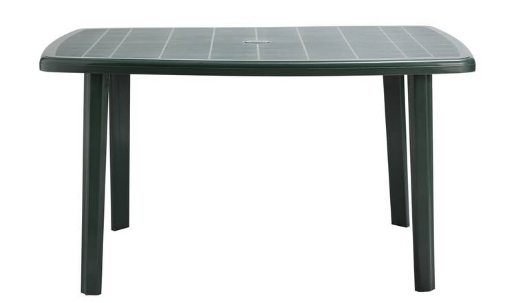 Argos Home Rectangular 6 Seater Garden Table - Green