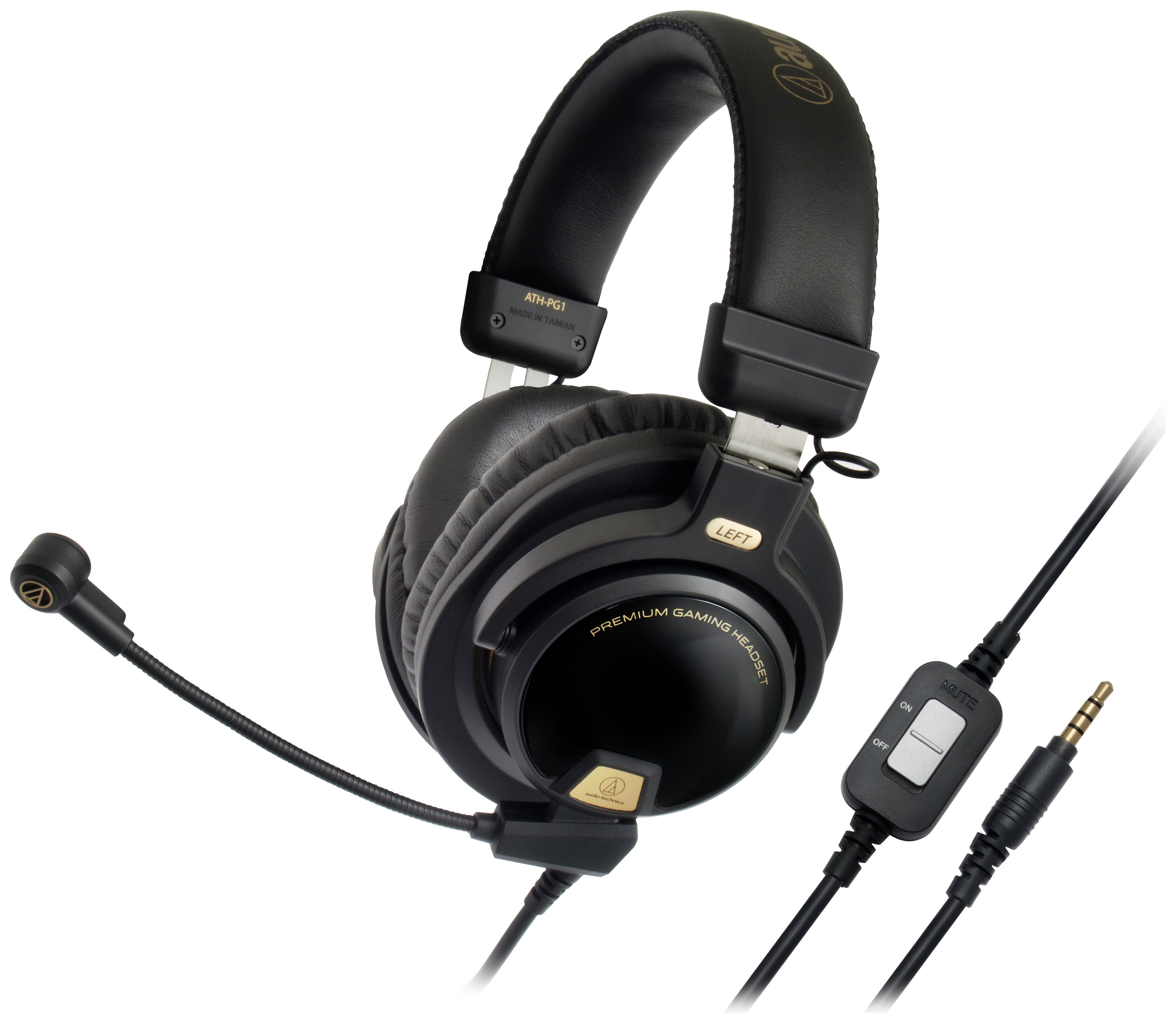 Image of Audio Technica ATH-PG1 Gaming Headset - Black/Gold.