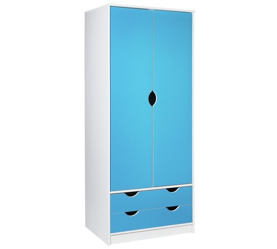 Argos Home Pagnell Blue 2 Door 2 Drawer Wardrobe
