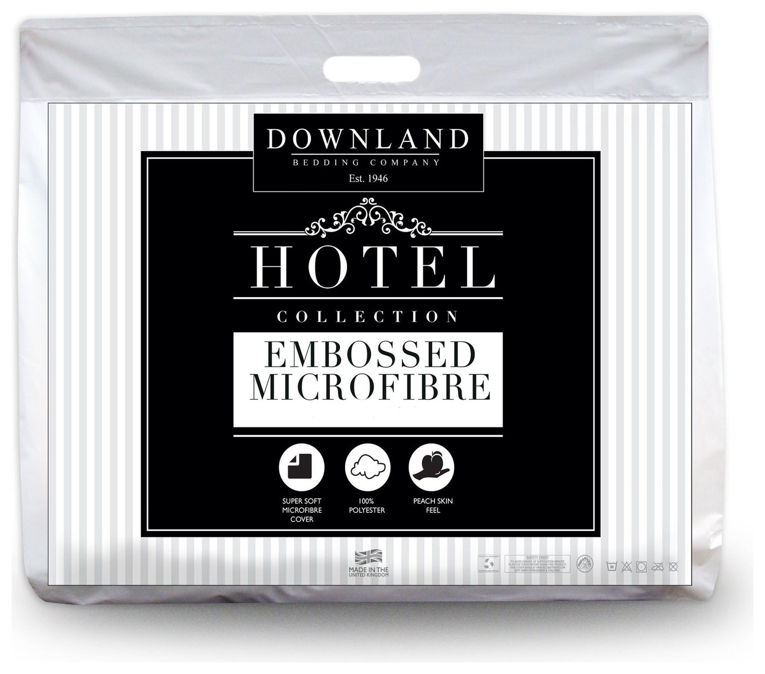 downland embossed soft to touch 10.5 tog duvet  kingsize.