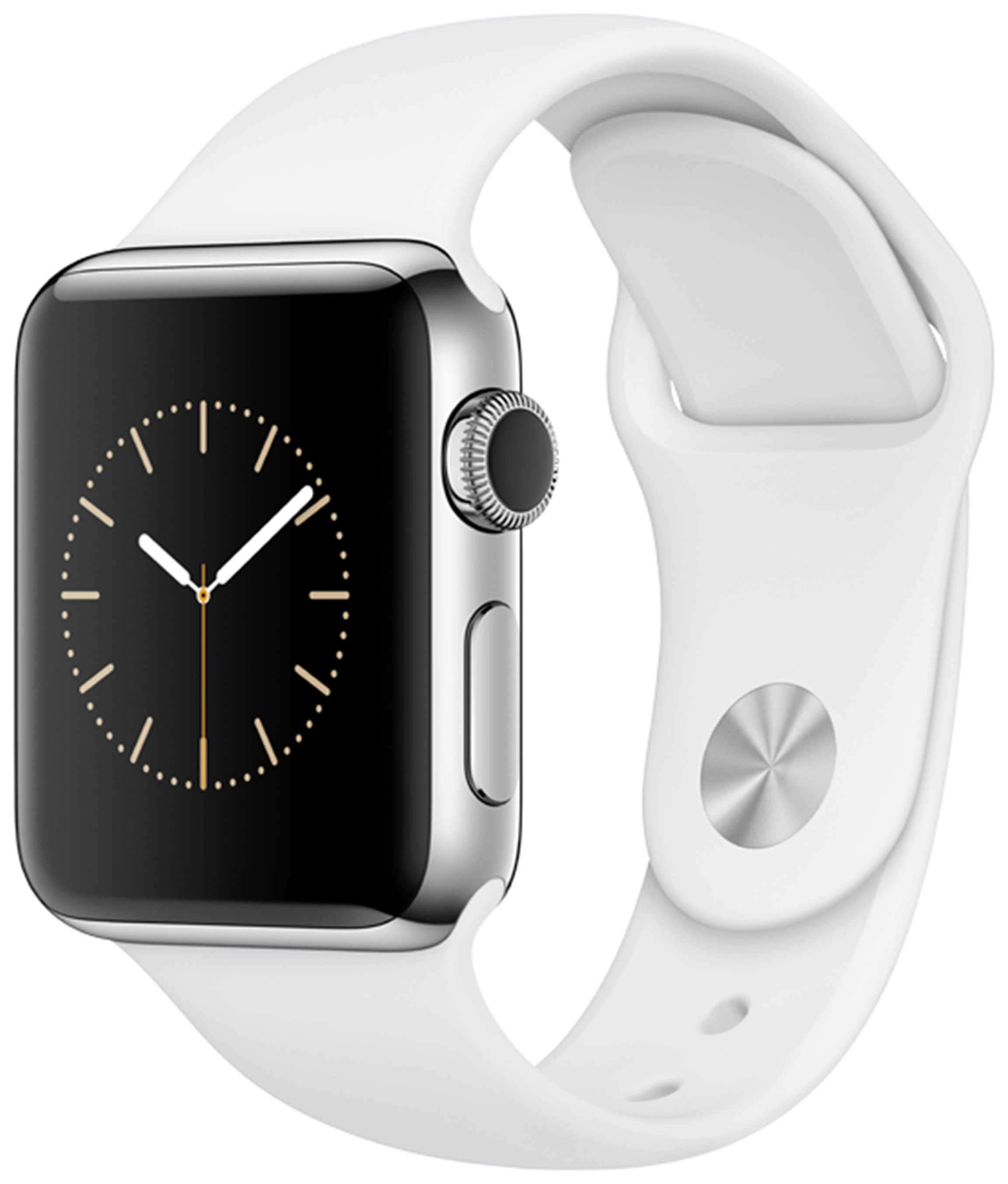 Apple Watch S2 38mm Stainless Steel White Sport Band. cheapest retail price