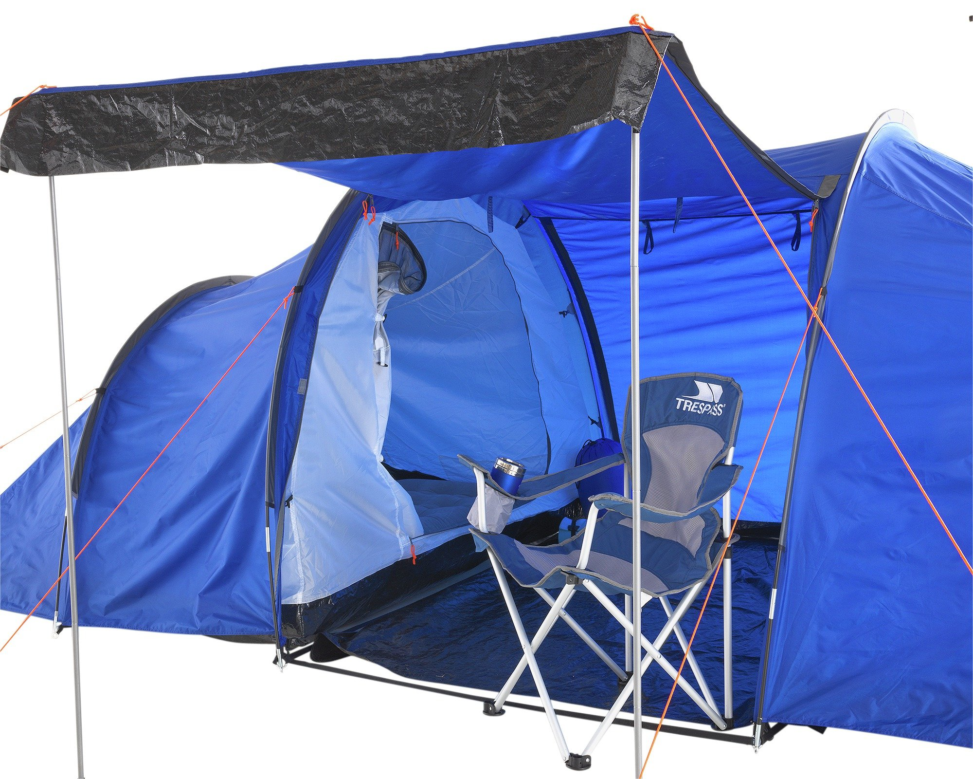 NEW BRAND ProAction 6 Man 2 Room Tent Perfect For A Group Or Large Family Going  sc 1 st  eBay & NEW BRAND ProAction 6 Man 2 Room Tent Perfect For A Group Or Large ...