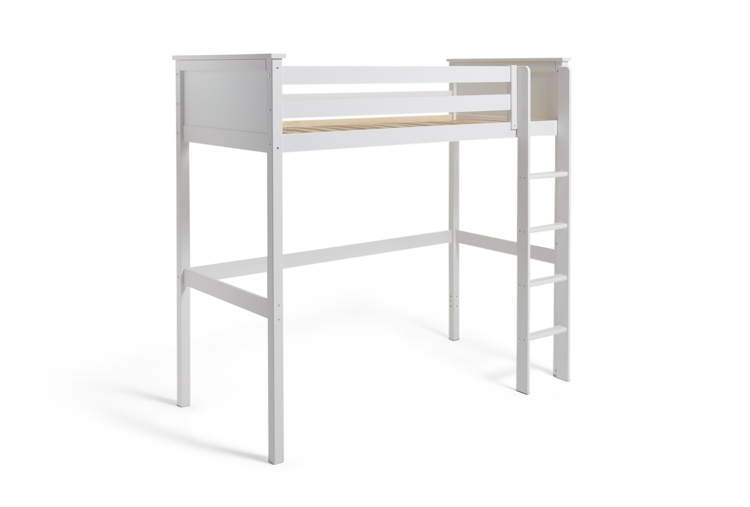 Argos Home Brooklyn White High Sleeper Bed Frame