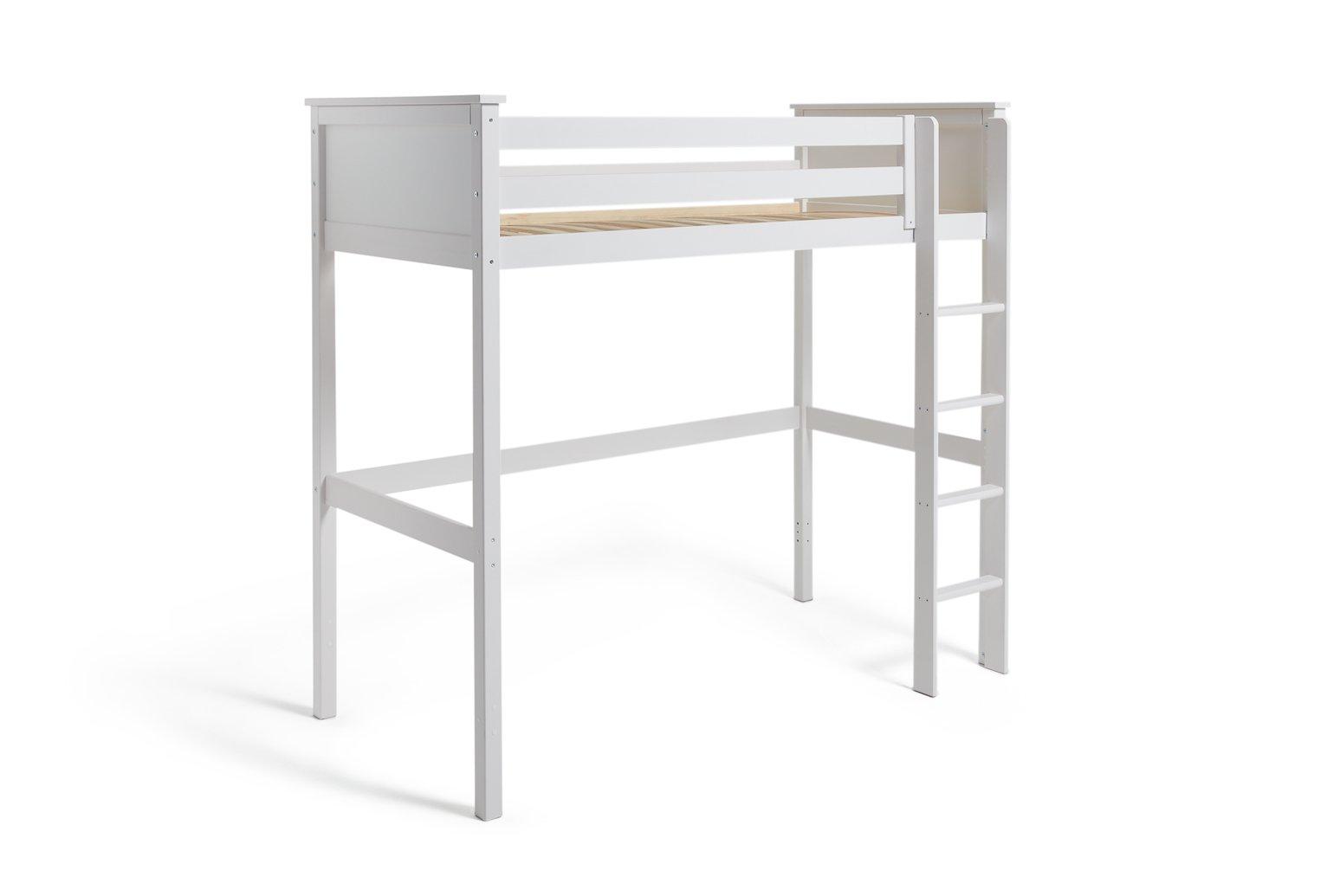 Argos Home Brooklyn White High Sleeper Bed Frame