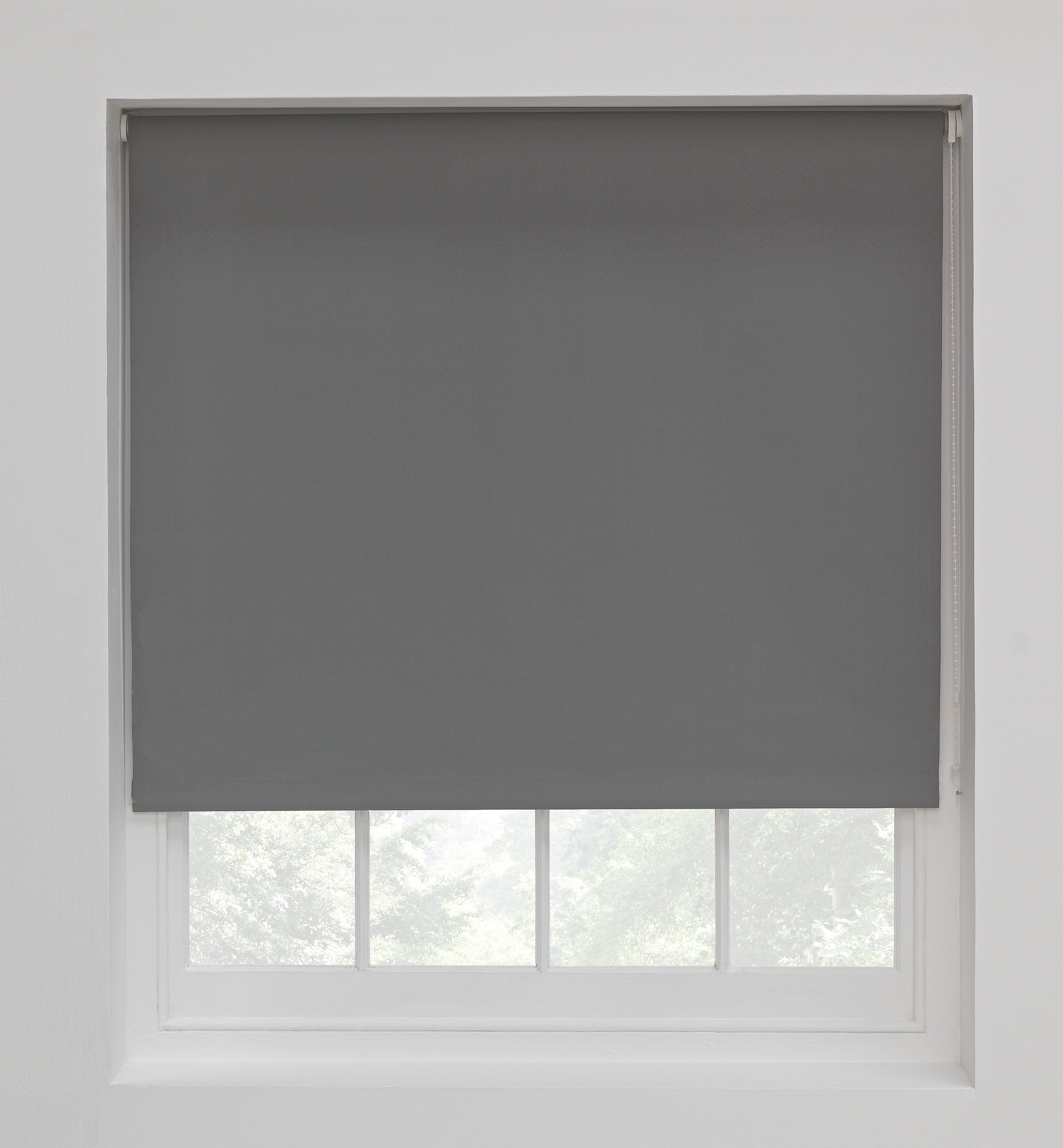 Buy ColourMatch Blackout Thermal Roller Blind 4ft Flint Grey at