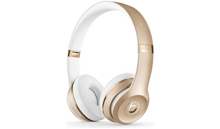 Buy Beats by Dre Solo 3 On-Ear Wireless Headphones - Gold ... 8922aa9b4f38