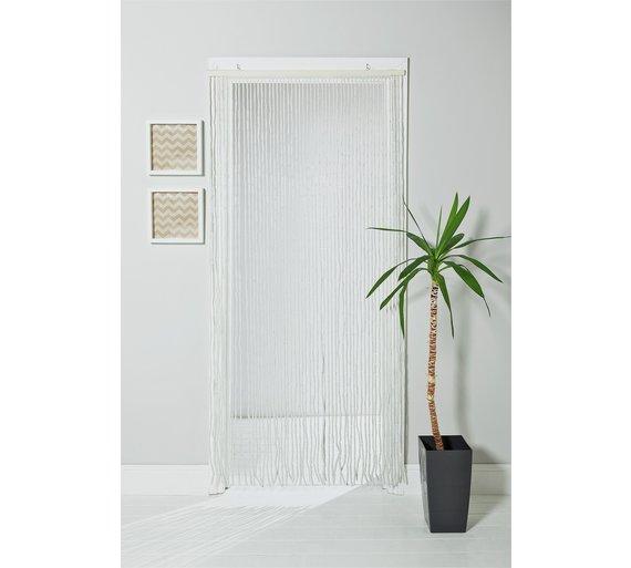 Buy Argos Home Beaded Door Curtain - White | Curtains | Argos
