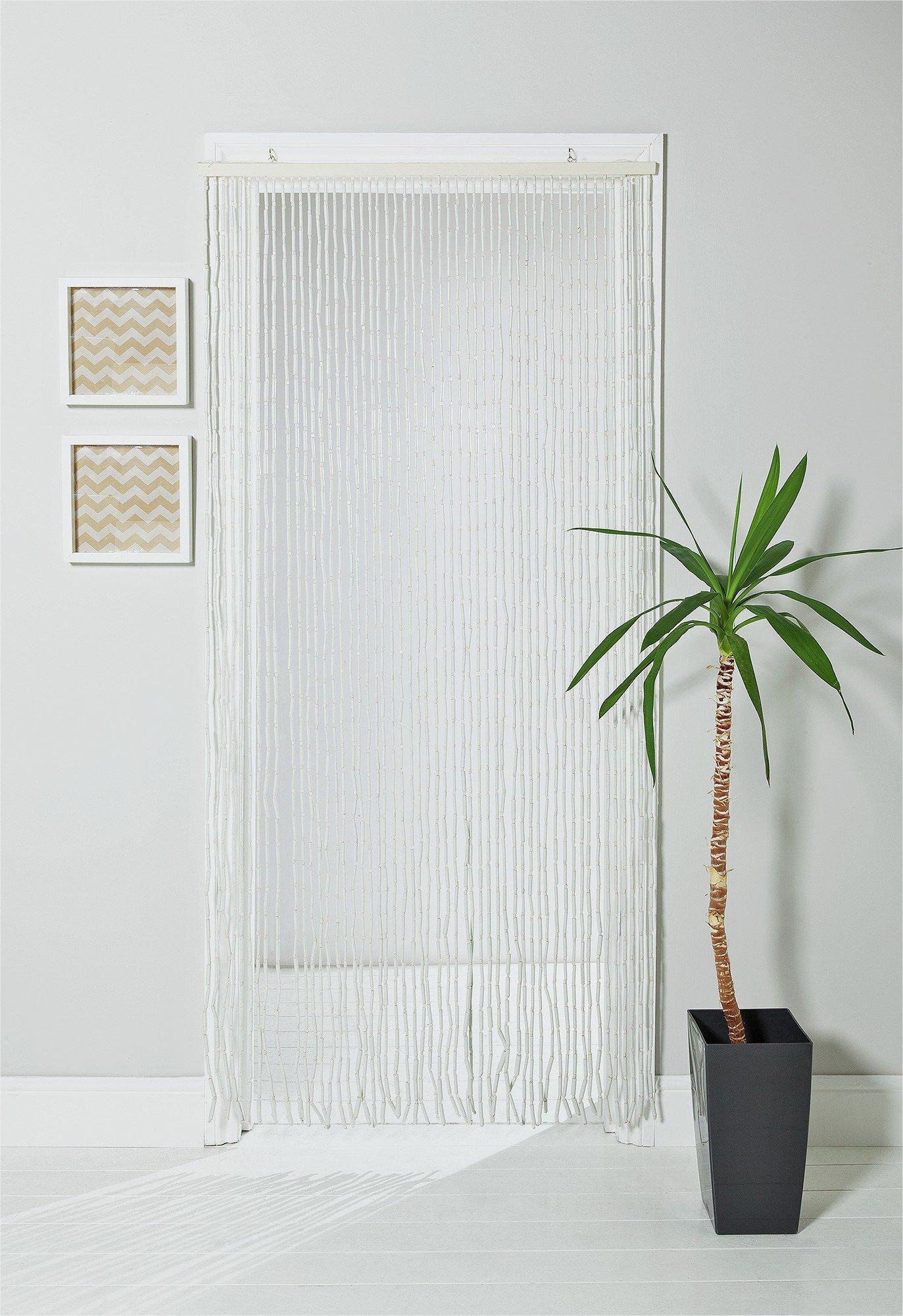 HOME Beaded Door Curtain   White